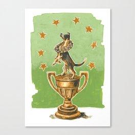 Dog Trophy 2 Canvas Print