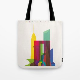 Shapes of Mexico City accurate to scale Tote Bag