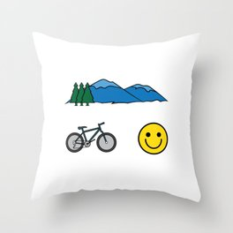 """Big fan of """"Mountain Bike""""? Grab this awesome tee and wear them anytime. Stay creative and positive! Throw Pillow"""