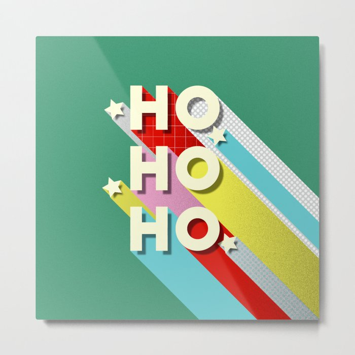 Christmas typography Metal Print