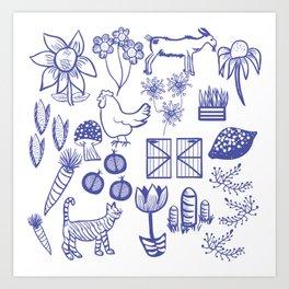 Farmhouse Life Art Print