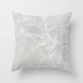Winter Ice Crystals, Frost Xmas Pattern Throw Pillow