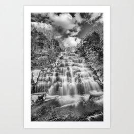 winter falls in B&W Art Print
