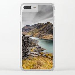 Snowdon Moutain Range Clear iPhone Case