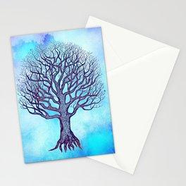 Tree of Life Blue Zen Design Stationery Cards