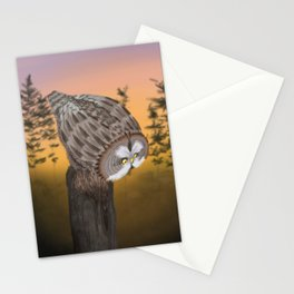 Great Grey Owl (Canavians Series) Stationery Cards
