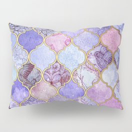 Royal Purple, Mauve & Indigo Decorative Moroccan Tile Pattern Pillow Sham