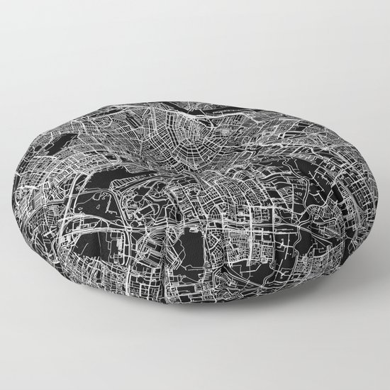 Amsterdam Black Map by multiplicity