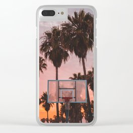 Venice Beach Sunset Ballin' Clear iPhone Case