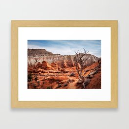 Picturesque Trail through Kodachrome Basin State Park Framed Art Print
