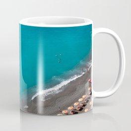 Positano Beach Umbrellas Coffee Mug