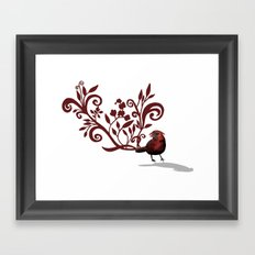 Swirly Bird Framed Art Print