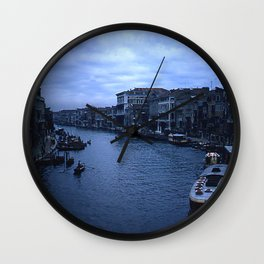 Vintage Color Photo * Kodachrome * 1950's * View from the Rialto Bridge * Venice Wall Clock