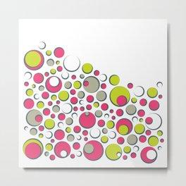 Bubble Dot Polka Gum Metal Print