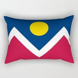 Denver, Colorado city flag - Authentic High Quality Rectangular Pillow