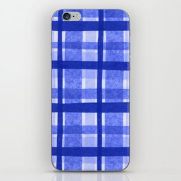 Tissue Paper Plaid - Blue iPhone Skin