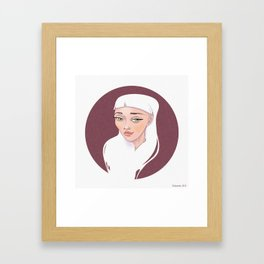 MOON Girl Framed Art Print