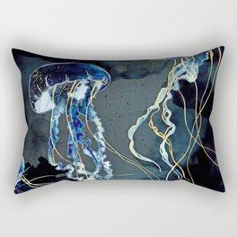 Metallic Ocean III - Flipped Vertical Axis Rectangular Pillow