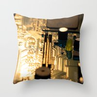 technology Throw Pillows featuring Sunset Technology by Encore Designs