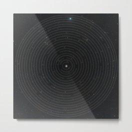 Space Maze Metal Print