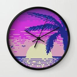 Pixel Sunset Wall Clock