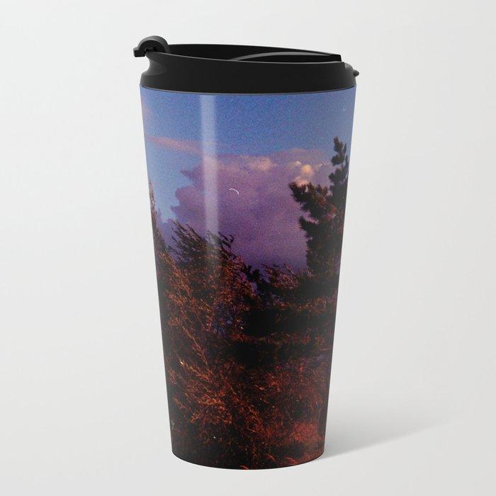 Red Pine and Moon Metal Travel Mug