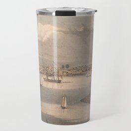 Vintage Pictorial Map of Gloucester MA (1836) Travel Mug