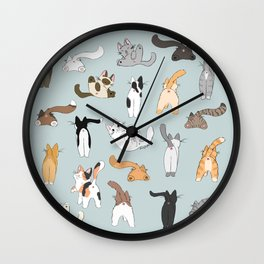 Cat Butts Wall Clock