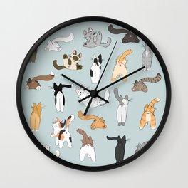 Cat Butts Wall Clock
