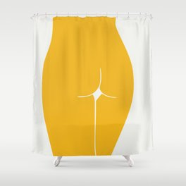 Yellow in nude Shower Curtain
