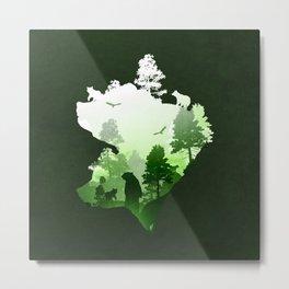Green Bears Metal Print