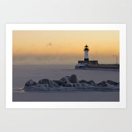 Canal Park Light House. Duluth, MN Art Print