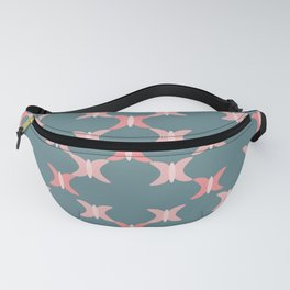 Repeat Coral Pink Butterfly Print Fanny Pack