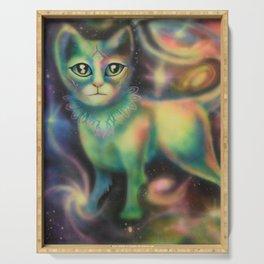 Cosmic Kitten Serving Tray