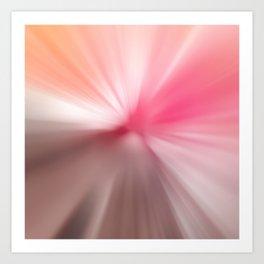Peach Pink Blurr Abstract Design Art Print
