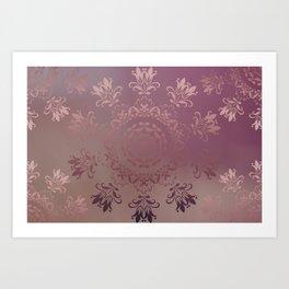Rose Gold Blossoms Art Print