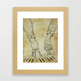 Hand of the pianist Framed Art Print