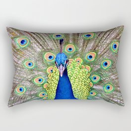 Proud Peacock Rectangular Pillow