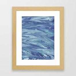 Marbled Non-pareil Light Blue & Cyan Framed Art Print