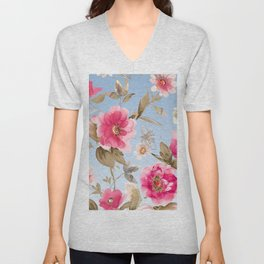 flower watercolor 6 Unisex V-Neck