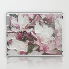 Magnolia Blooms in the Rain Laptop & iPad Skin
