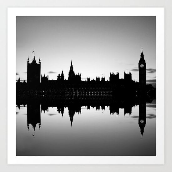 Houses of Parliament, Westminster, London Art Print