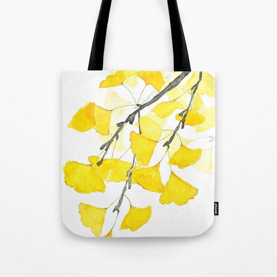 Golden Ginkgo Leaves Tote Bag
