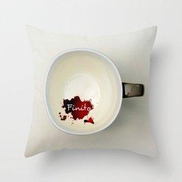Il caffè... finito Throw Pillow
