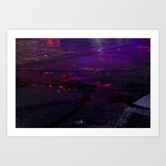 Spilled Lights Art Print