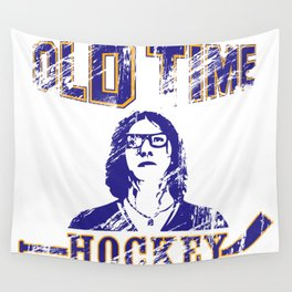"""Old Time Hockey, Coach?"" Wall Tapestry"