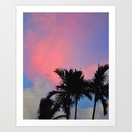Sunset in Miami #photography#pinksky #sunset Art Print