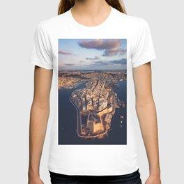 The Three Cities Senglea Malta | Aerial  T-shirt