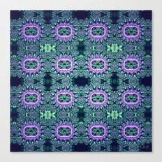 Purple & Teal Lace Canvas Print
