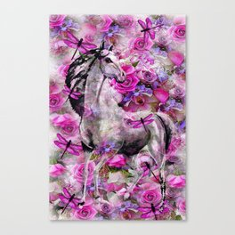 Horse in the Garden Canvas Print